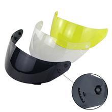 Анти-УФ полное лицо мотоцикл съемный шлем объектив козырек для LS2 FF352 FF351 FF369 FF384 съемные УФ-лучи защиты