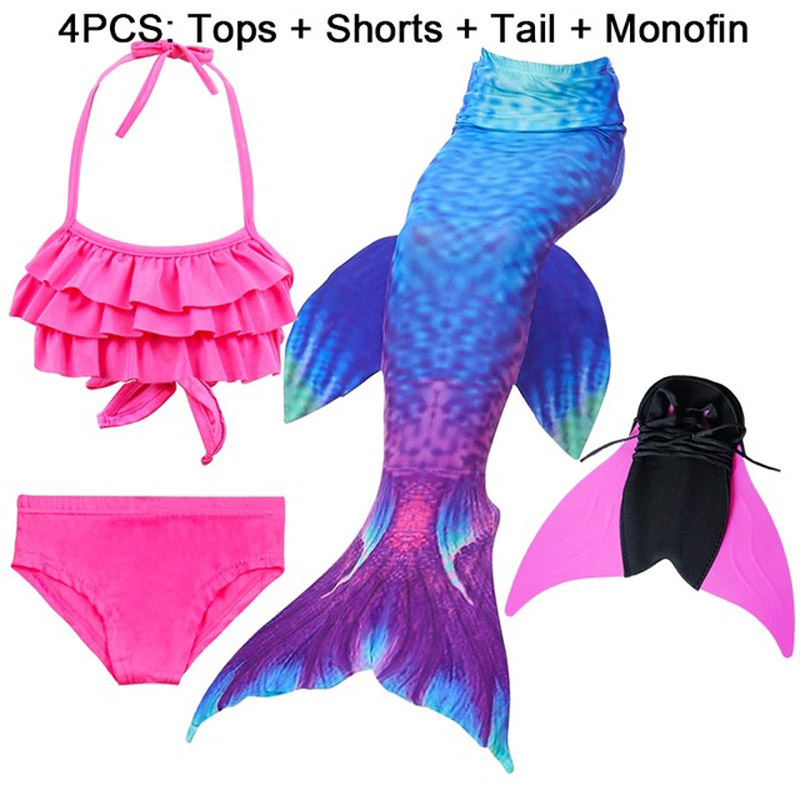 14-Colors-Girls-Swimming-Mermaid-Tail-with-Monofin-Bathing-Suit-Children-Ariel-the-Little-Mermaid-Tail.jpg_640x640 (8)