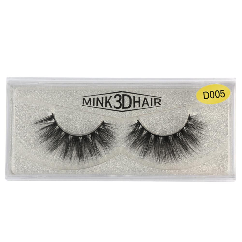 1 Pair Natural Thick Crisscross Messy Long False Eyelashes 3D Pure Handmade Mink Hair Fake Eyelashes Extension Makeup Tool