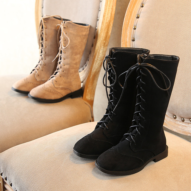 Enfants sur genou bottes fille chaussures genou mode enfants bottes 2018 automne et hiver princesse filles étudiants Style britannique Sho