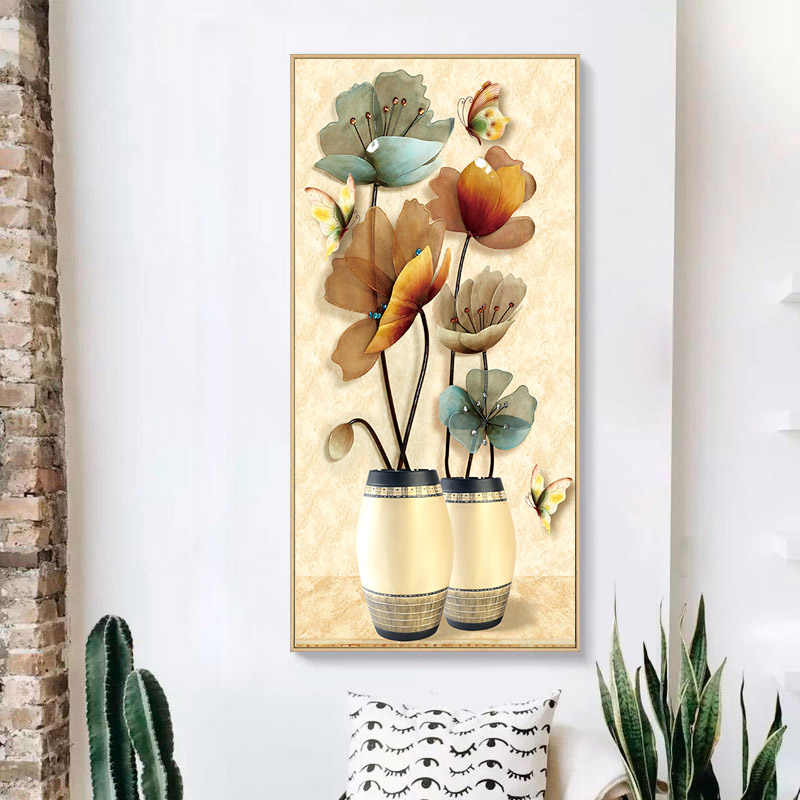 Китайская Вышивание нитками DMC Ювелирная ваза с вышивкой крестиком наборы цветов для вышивки наборы для вышивки крестиком домашний декор