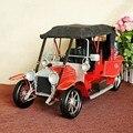 77356 Red Luxury Large Retro Vintage Car Model Creative Gift