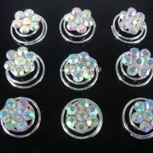 60 шт. AB Хрустальные цветные свадебные цветочные хрустальные заколки для волос булавки-пружинки