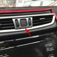 Chrome приборной панели автомобиля AC кондиционер переключатель регулировки чехол накладка для Nissan X-Trail Rogue Спорт Мурано Qashqai T32 j11 аксессуары