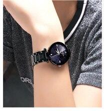 New luxury brand fashion women watch sapphire alloy strip business casual waterproof quartz watch relogio masculino