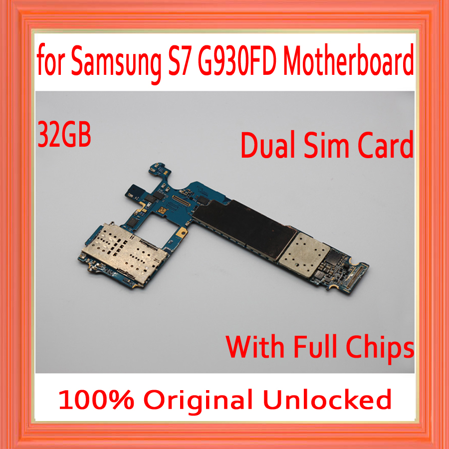 Dual Sim Card for Samsung Galaxy S7 G930FD Motherboard,Original unlocked for Galaxy S7 G930FD Mainboard+Full Chips,Free ShippingDual Sim Card for Samsung Galaxy S7 G930FD Motherboard,Original unlocked for Galaxy S7 G930FD Mainboard+Full Chips,Free Shipping