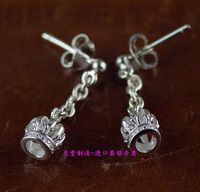925 Silver Crown Earrings Of Ear Wire 1 Pair