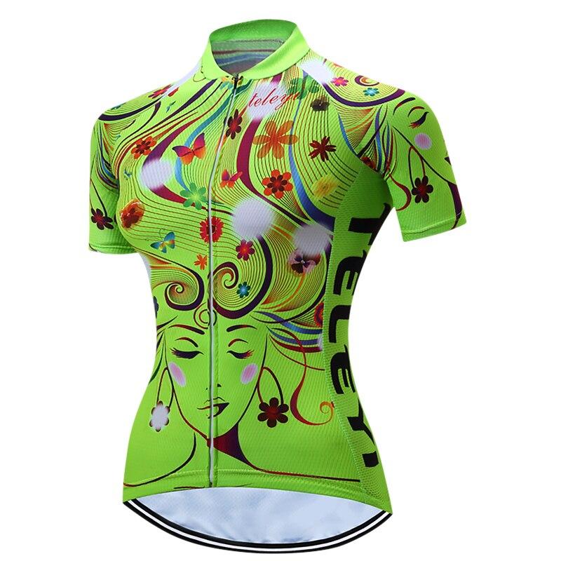 Prix pour TELEYI VÉLO Femmes de Court Cyclisme Manches Jersey Quick Dry Respirant Montagne Vélo Clothing Plein Zip Tops Vélo Chemise XY01
