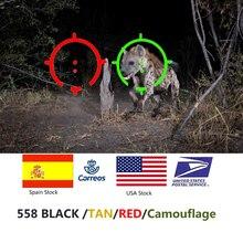 טקטי 558 Collimator Sight הולוגרפי אדום Dot אופטי Sight רפלקס Sight לרובה ציד עם 20mm Rail Mounts עבור Airsoft & Softair