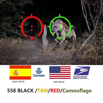 Tactical 558 kolimator celownik holograficzny czerwona kropka celownik optyczny celownik refleksyjny do strzelby z 20mm uchwytami szynowymi do Airsoft i Softair tanie i dobre opinie BESTSIGHT Karabin
