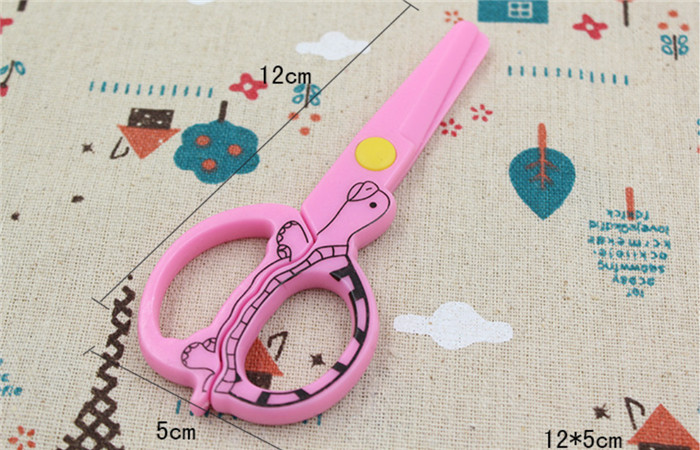 1300pcs DIY Cute Kawaii Cartoon Plastic Safe Scissors For Paper Scrapbooking Kids Gift Korean Stationery