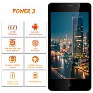 "Image 3 - Leagoo Power 2 Gezicht Id Vingerafdruk Smartphone 2Gb + 16Gb Dual Camera 3200Mah Android 8.1 MT6580A Quad core 5.0 ""Hd Mobiele Telefoon"