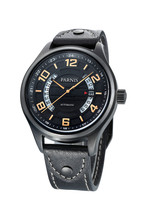 Parnis Sapphire 43mm PVD Case Black Dial Automatic Movement Men's Wrist Watch