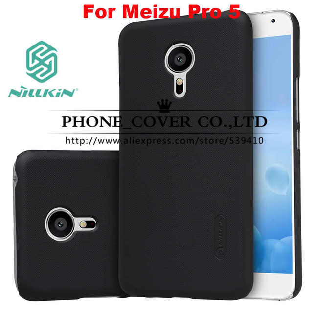 Meizu Pro 5 case Nillkin Super Frosted Shield Back Case Cover For Meizu Pro 5 5.7 phone skin cases + screen protectors + package