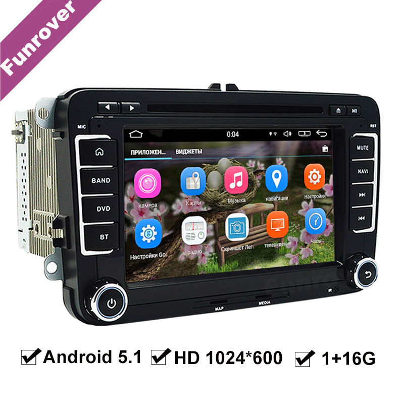 funrover car radio player gps navigation for skoda vw. Black Bedroom Furniture Sets. Home Design Ideas