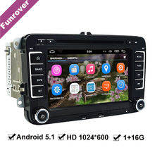 2 din android 5.1.1 car radio for vw passat b6 skoda golf5 golf mk7 golf4 tiguan polo touran t5 seat cc GPS Navigation Radio FM