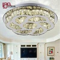 New Round LED Ceiling Light Cystal Flush Mount Light Crystal Ceiling Lamp Modern LED Light For