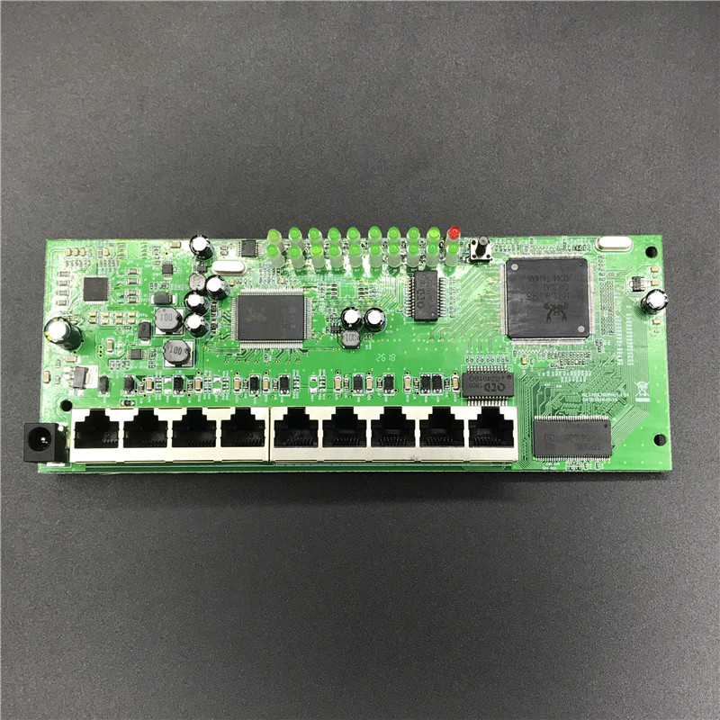 OEM 9 port POE router module manufacturer t sell  full Gigabit 10/100/1000M POE 48V2A router modules OEM wired router module 1