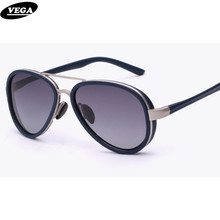 VEGA Polarized Goggles Vintage Spectacles Aviation Sunglasses For Small Face  Hipster 7bd7b53833