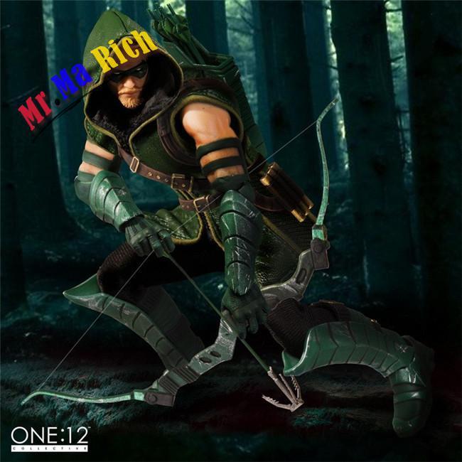 Mezco Dc Comics Green Arrow Uno: 12 Collettiva Figure Giocattoli 16 Cm