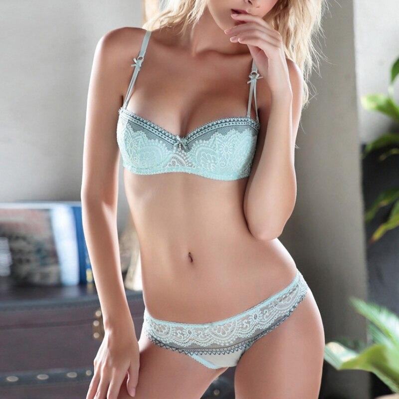 Women Sweet Lace Sexy Push Up Underwear And Panty Girls   Bra     Set