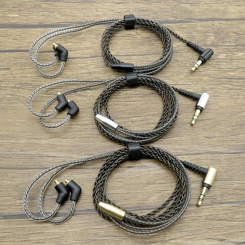 Neueste 3,5mm silber überzogene upgrade kabel kopfhörer zubehör DIY MMCX Für SE215 SE315 SE535 SE425 SE846 UE900S