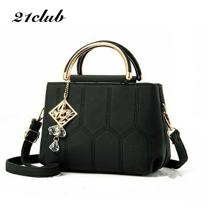 21club brand women solid cute ornaments totes plaid flap handbag hotsale party purse ladies messenger crossbody shoulder bags