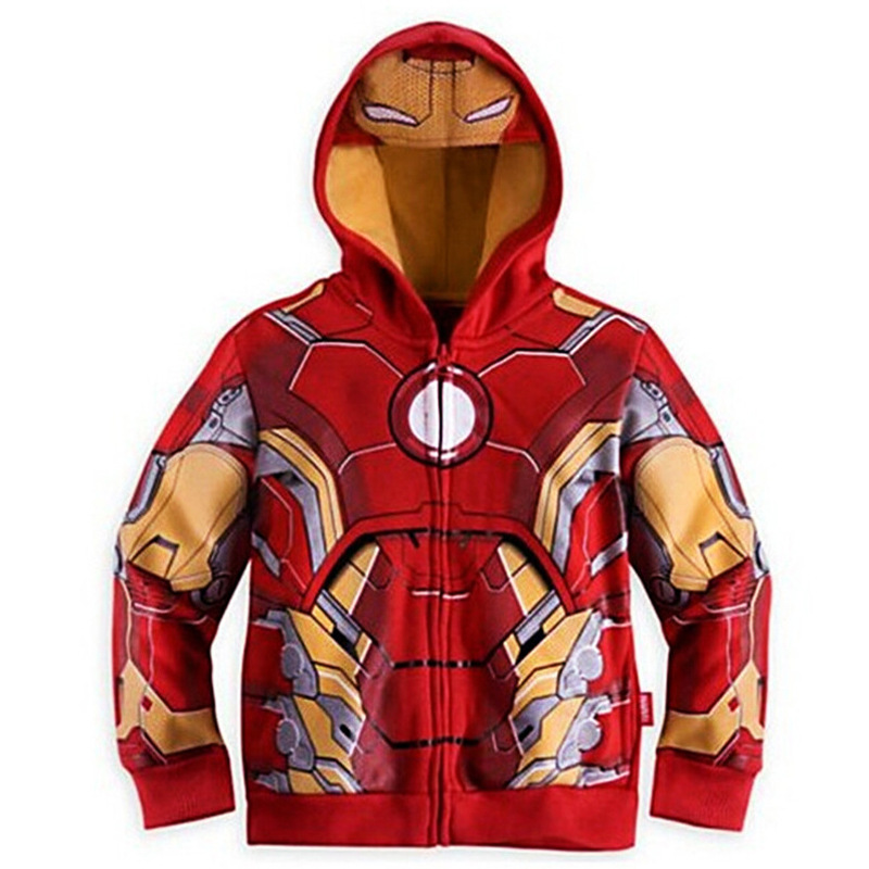 Spring Autumn The Avengers Iron Man Children Hoodies Sweatshirt Boys Girls Coat Kids Long Sleeve Casual Outwear Kids Clothes