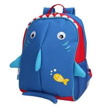 Little Kids School Bag Pre-K Toddler Backpack - Name Tag and Chest Strap, Shark