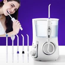Tackore Oral Irrigator Rechargeable Water Flosser Portable Dental Jet 800ML Tank Waterproof Teeth Cleaner