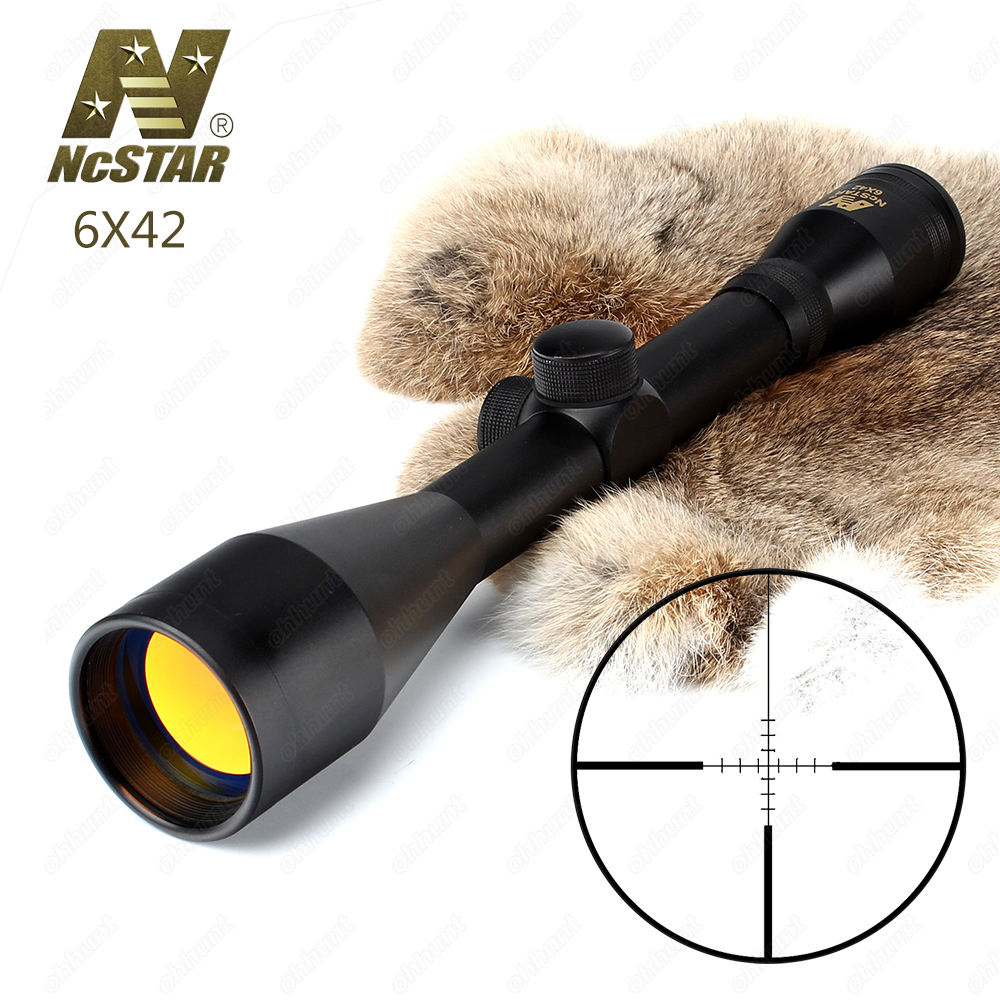 Hunting Rifle Scope 6X42 P4 Sniper Full Size Fixed Magnification 6X Tactical Optical Sight Ruby Coating sniper white version of the sniper 6 24x50aol traffic light mil dot sight optical cross earthquake sniper scope