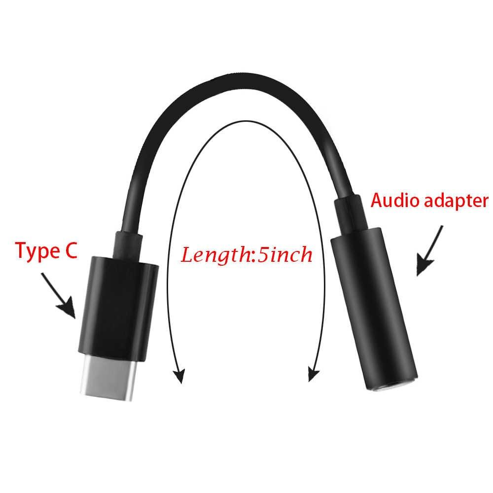 نوع-C إلى 3.5 مللي متر سماعة مهائي كابلات usb 3.1 نوع C USB-C ذكر إلى 3.5 AUX الصوت أنثى جاك ل شاومي سامسونج
