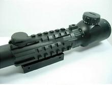 oxota Tactical 3 9X40 Tri Rail Red Green font b Rangefinder b font Rifle Scope hunting