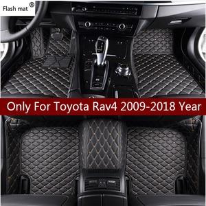 Image 1 - Tapis de sol en cuir personnalisé, intérieur de voiture, intérieur de voiture, seulement pour Toyota Rav4 2009 2014 2015 2016 2017 2018