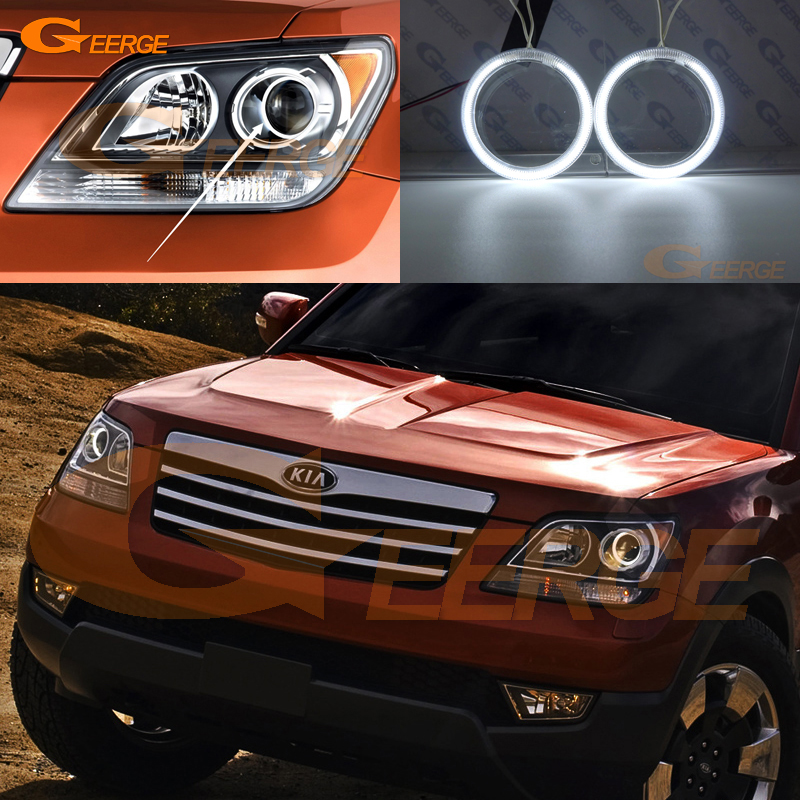 For Kia Borrego Mohave 2009 2010 2011 Excellent Ultra bright illumination CCFL Angel Eyes kit Halo Ring roca mohave 110 110х43 см 327879000