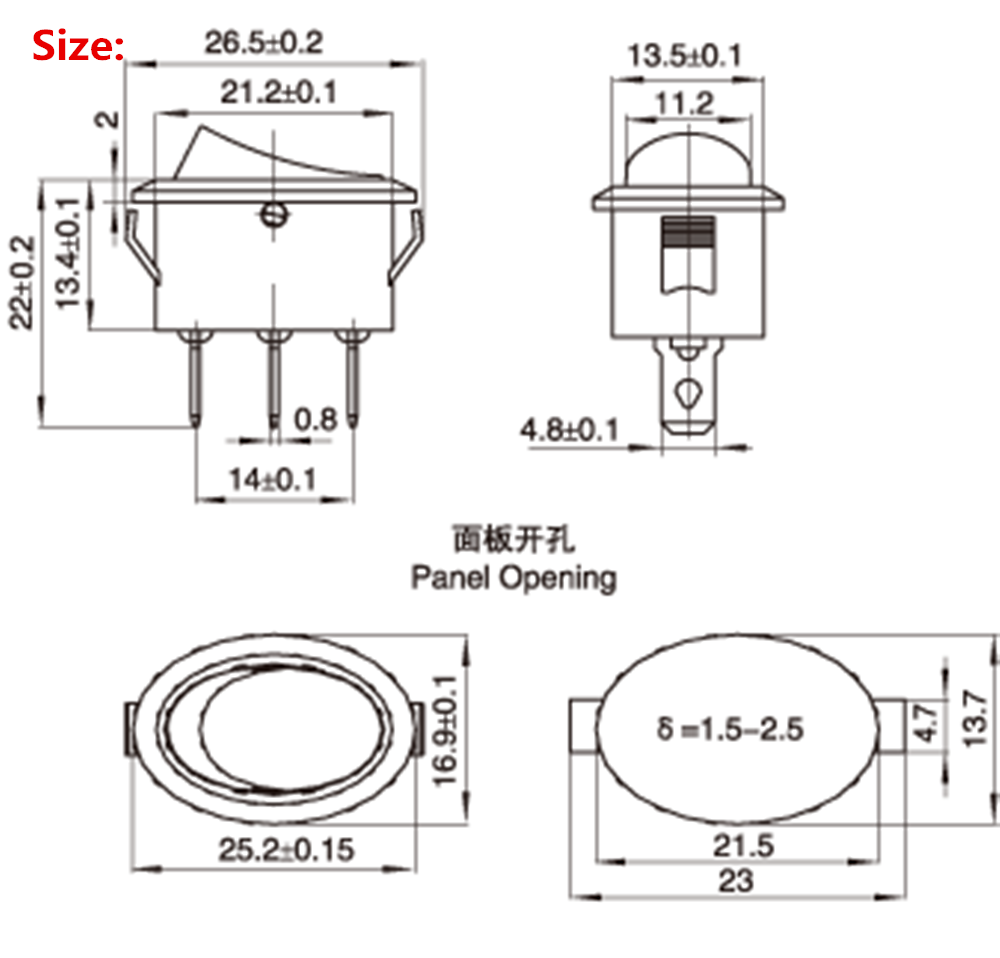 An Electric Kettle Type Power Switch 6a 3 File Foot Three Spdt Wiring Diagram Black In Tool Accessories From Tools On Alibaba Group