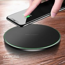Qi Wireless Charger For iPhone 8 Plus X XR XS Max QC3.0 Quick Charge 10W Fast Wireless Charging For Samsung S9 S8 Plus S7 S6(China)
