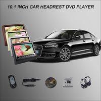 BigBigRoad для AUDI A6 A3 A5 S3 S5 S6 Q3 Q5 Q7 2*10,1 подголовник автомобиля монитор Цифровой ЖК дисплей Экран Автомобильный мультимедийный dvd плеер