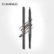 Фламинго бренд тени для бровей Косметика натуральный стойкий краска татуировки бровей водонепроницаемый черный коричневый карандаш для бровей lmb1001