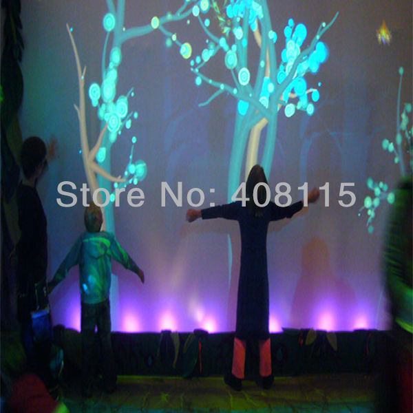 3D interactive projection display system ,make many effects,Malls and Retail Establishments