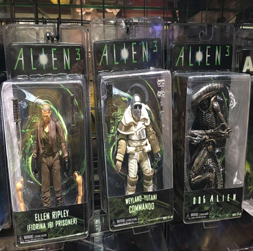 NECA Aliens 3 Dog Alien Weyland-Yutani Weyland Yutani Commando Ellen Ripley PVC Action Figure Collectible Model Toys Doll 7 neca alien lambert compression suit aliens defiance xenomorph warrior alien pvc action figure collectible model toy 18cm