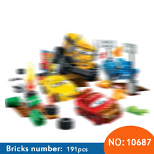 Bela 191Pcs 2017 New Cars Juniors Thunder Hollow Crazy 8 Race car Building Blocks kids DIY Brick Toys Compatible with 10744