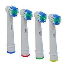 Cabeças de Escova de Substituição Para Eb17-4 4 pçs/set/Sb-17A Cuidado Profissional Escova De Dentes Elétrica Toothbrushs Elétricos Limpo E Macio