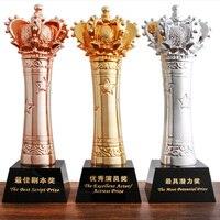 2018 Crown Trophy High Grade Souvenir Champions League Metal Trophies Creative Model Logo Can Custom Made Gifts