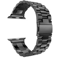Classic Buckle With Adapter Band For Apple Watch 42mm 38mm Stainless Steel Link Bracelet Watchband Strap