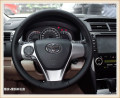 HOT SALE DIY car handmade sewing Steering wheel cover Fit for 2012 Toyota Camry