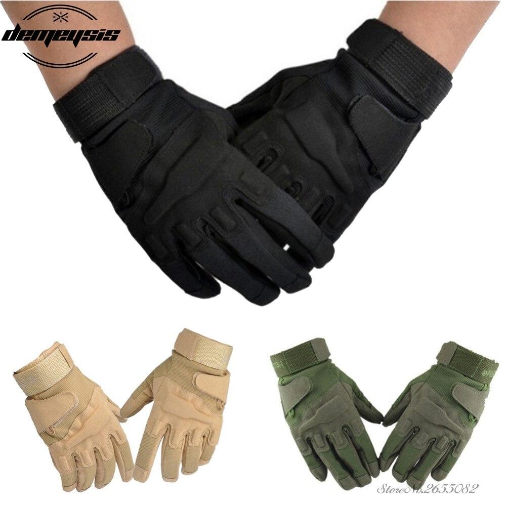 Guantes tácticos de dedo completo para hombre, guantes militares de policía militar, guantes de Paintball, guantes deportivos al aire libre, guantes de tácticas completas