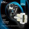 Unitech Unigo+ Handheld Camera Gopro Gimbal W/ Smart Phone Cradle/Stand 3-Axis 360 Rotation Camera Stabilizer