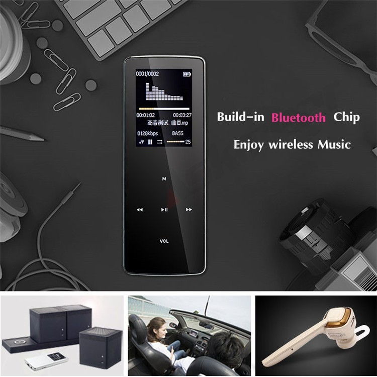ONN W6 Rechargeable 8GB Bluetooth MP3 Player Mini Sport Mp3 HIFI Lossless Music Media Audio Player with 1.8 TFT Screen Fm Radio (7)