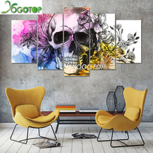 YOGOTOP DIY Diamond Painting Cross Stitch Kits Full Diamond Embroidery 5D Diamond Mosaic Home Decor Flowers skull 5pcs ML260 yogotop diy diamond painting cross stitch kits full diamond embroidery 5d diamond mosaic home decor two wolf 5pcs ml224